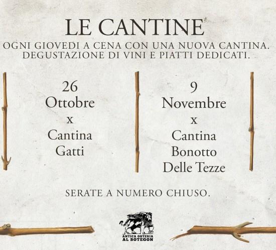 Cena con Degustazione Vino a Treviso, ovviamente Al Botegon a partire dal 12 Ottobre 2017